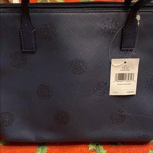 Kate spade blue with sparkles purse